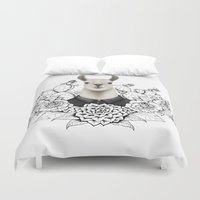 lama Duvet Covers featuring Lama by Melanie Blanchard