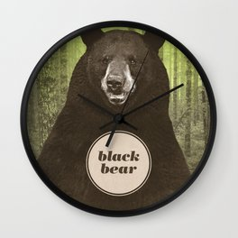 Black Bear Wall Clock