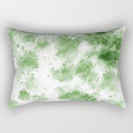 Green Watercolor Splashes Rectangular Pillow