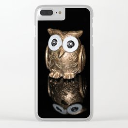 """""""Reflections"""" - Gold Owl Clear iPhone Case"""