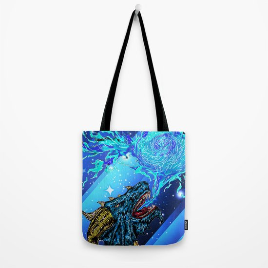 blue dragon fire artist Tote Bag