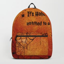 It's Halloween, everyone's entitled to one good scare. Backpack