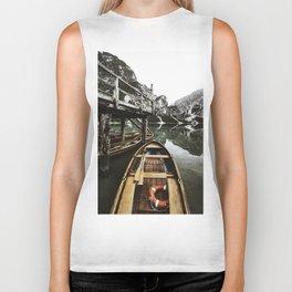 braies lake Biker Tank