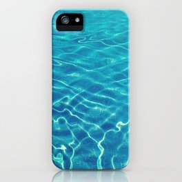 Ripples and wave patterns on crystal clear blue water iPhone Case