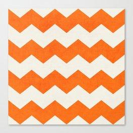 chevron-orange Canvas Print