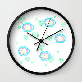 leaves and sparkle ~smile~ five Wall Clock