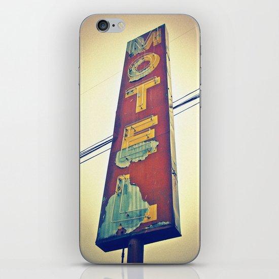 Motel Americana sign iPhone Skin