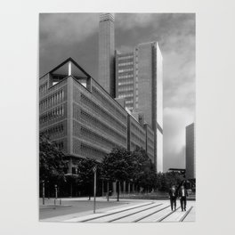 Marlene Dietrich Platz and Two Suits Poster