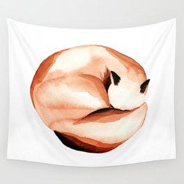 Sleepy fox Wall Tapestry