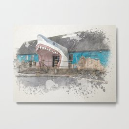 Sharkey's Souvenir Shop, Ocean Shores, Washington Metal Print