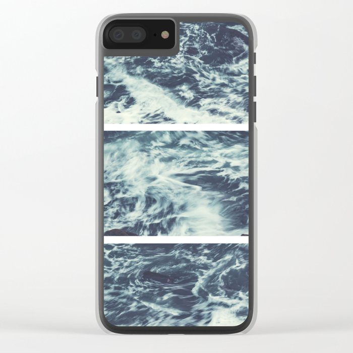 Saltwater Tryptych Clear iPhone Case