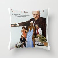 scarface Throw Pillows featuring Cheney Scarface by vipez