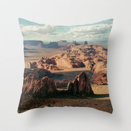 Monument Valley Overview Throw Pillow