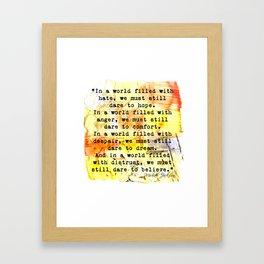 hope_dream_believe Framed Art Print
