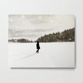 Winter Wandering Metal Print