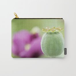 Hungarian Blue Bread Seed Poppy | Seed Pod Alternate Perspective Carry-All Pouch