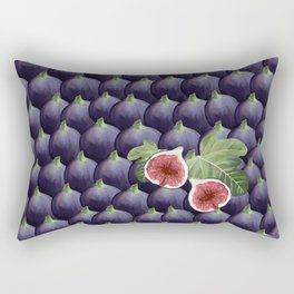 Market day purple figs with halved figs Rectangular Pillow