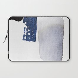 Navy Blue Abstract Laptop Sleeve