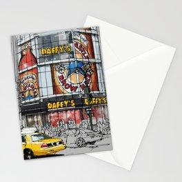 Daffys New York City Yellow Cab original sketch Stationery Cards