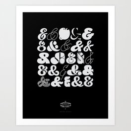25 Ampersands Art Print