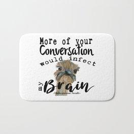 Infectious Conversation Bath Mat