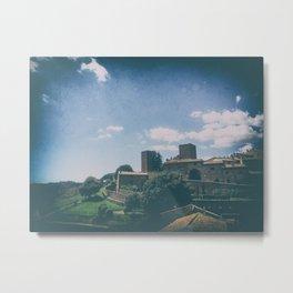 Tuscania medieval village in summer Metal Print