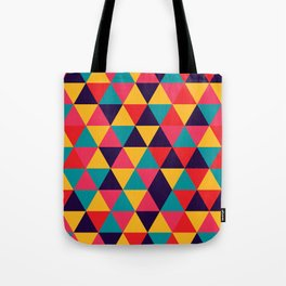 Colorful Triangles (Bright Colors) Tote Bag
