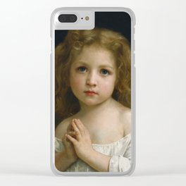 William Adolphe Bouguereau - Little Girl, 1878 Clear iPhone Case