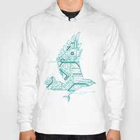 wind Hoodies featuring Wind-Up Bird by Jay Fleck