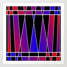 Art Deco 'Fractured' Art Print