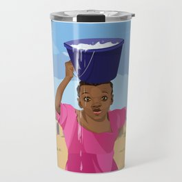 African Village Girl Travel Mug