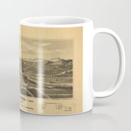 Aerial View of Los Angeles, California (1877) Coffee Mug