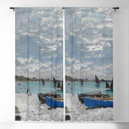 Claude Monet - The Beach at Sainte-Adresse Blackout Curtain
