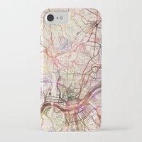 cincinnati iPhone & iPod Cases featuring Cincinnati by MapMapMaps.Watercolors