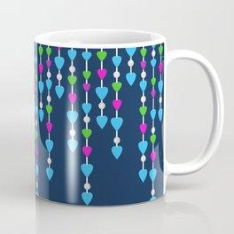 Pearl beads and hearts .  3 Coffee Mug