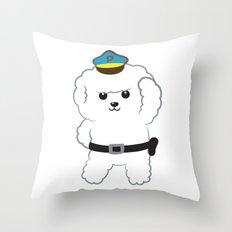 Animal police - Bichon Frisé Throw Pillow
