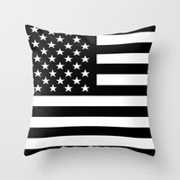 flag Throw Pillows featuring Flag by Stephanie Janeczek