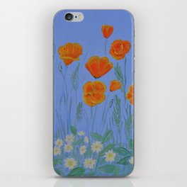 Poppies And Primroses iPhone Skin