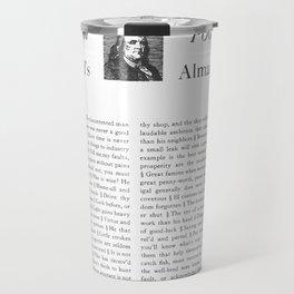 Wit & Wisdom from Poor Richard's Almanack Travel Mug