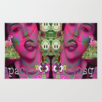 miley Area & Throw Rugs featuring MILEY PYTON by Riot Clothing