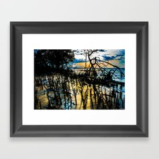 Twisted Shadows Play in a Sapphire Sunset Framed Art Print