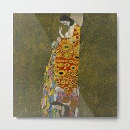 Gustav Klimt - Hope II Metal Print