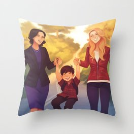 A Perfect Family Throw Pillow