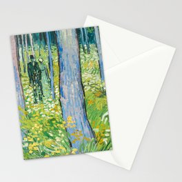 Undergrowth with Two Figures by Vincent van Gogh Stationery Cards