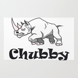 Save the Chubby Unicorn Rhinos Earth Day Environmental Rug