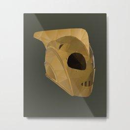 Rocketeer Helmet polygon art Metal Print