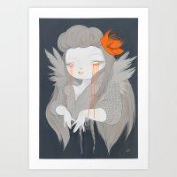 hawaiian Art Prints featuring Hawaiian Raven by STUDIOKILLERS