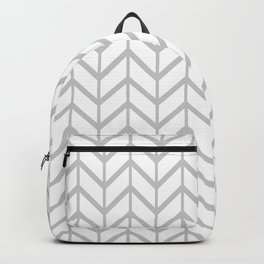 Gasp Gray in Chevron Backpack