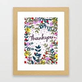 Thankyou Framed Art Print