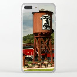 Water Tower Of The Black Hills Central Railroad Clear iPhone Case